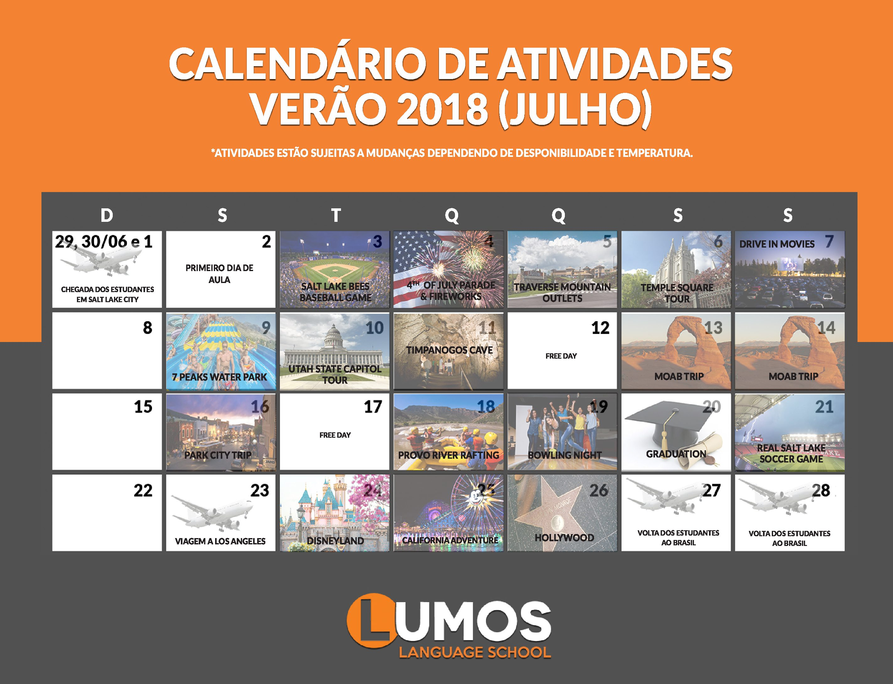CALENDARIO VERAO18 INTERCAMBIO
